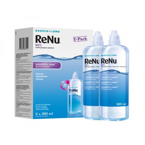 ReNu MPS Sensitive Eyes 2 x 360 ml s pouzdry