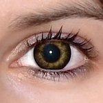Gorgeous grey v detailu na původní barvě očí hnědo-zelené
