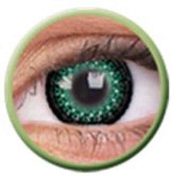 ColourVue Eyelush - Green (2 čočky tříměsíční) - nedioptrické - výprodej exp.2020