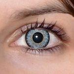 Glamour aqua v detailu na původní barvě očí hnědo-zelené