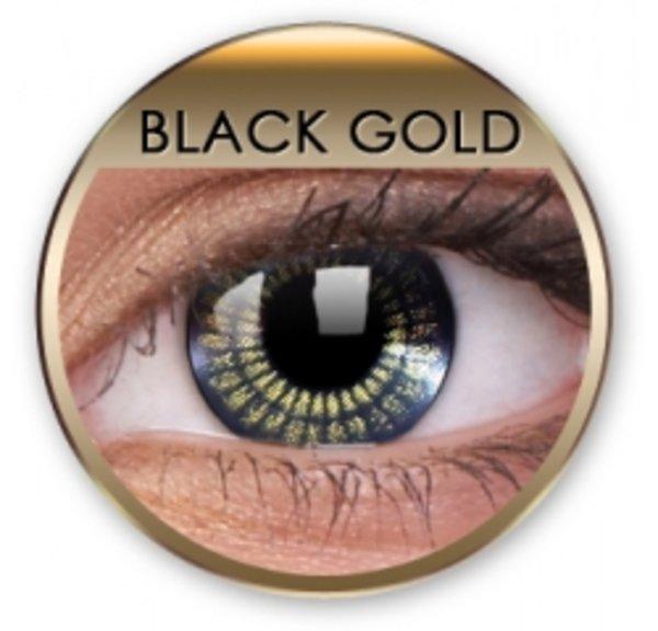 Jewel - Black Gold nedioptrické (2 tříměsíční čočky)