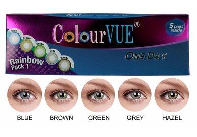 ColourVue Trublends One-Day Rainbow Pack1 - (5 párů barevných čoček) - nedioptrické
