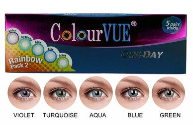 ColourVue Trublends One-Day Rainbow Pack2 - (5 párů barevných čoček) - nedioptrické