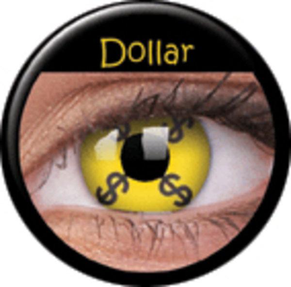 ColourVue Crazy čočky - Dollar (2 ks roční) - nedioptrické