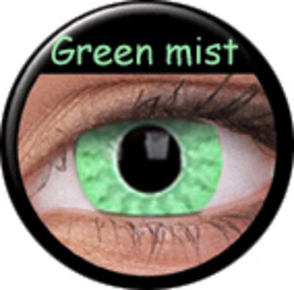 Phantasee Crazy čočky - Green Mist (2 ks roční) - nedioptrické - exp.04/2020