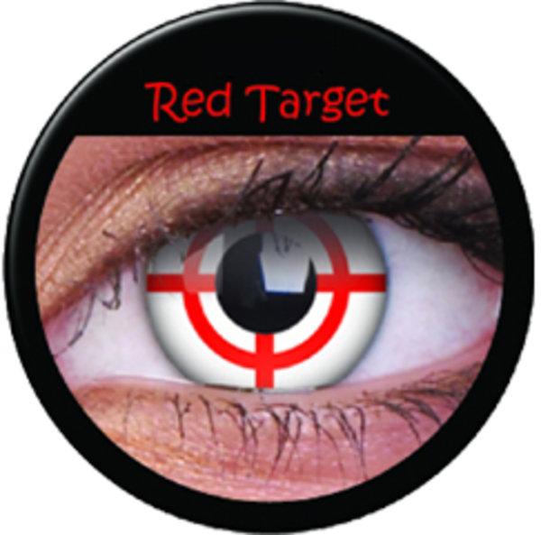 ColourVue Crazy čočky - Red Target (2 ks roční) - nedioptrické