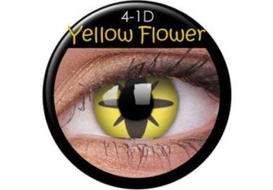 ColourVue Crazy čočky - Yellow Flower (2 ks roční) - nedioptrické