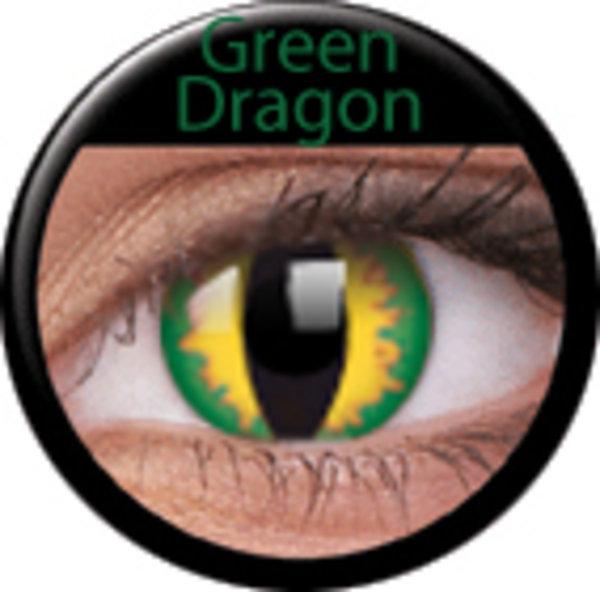 ColourVue CRAZY ČOČKY - Green dragon (2 ks tříměsíční) - nedioptrické -exp.11/2016