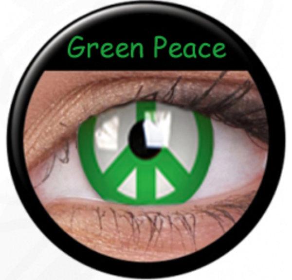 ColourVue CRAZY ČOČKY - Green Peace (2 ks tříměsíční) - nedioptrické