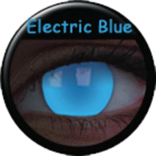 Crazy čočky UV svítící (2 ks, roční) - Electric Blue