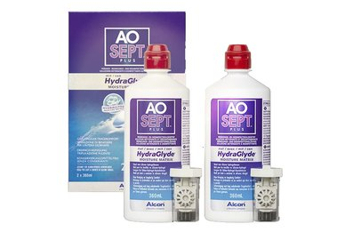 AOSEPT Plus HydraGlyde 2 pack 2x360 ml se 2 pouzdry