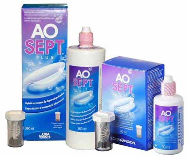 AOSEPT Plus 360 ml + 90 ml + 2 pouzdra - AKCE!!