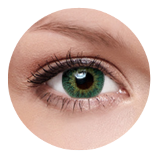 FreshKon Colors Fusion - Groovy Green (2 čočky měsíční) - dioptrické