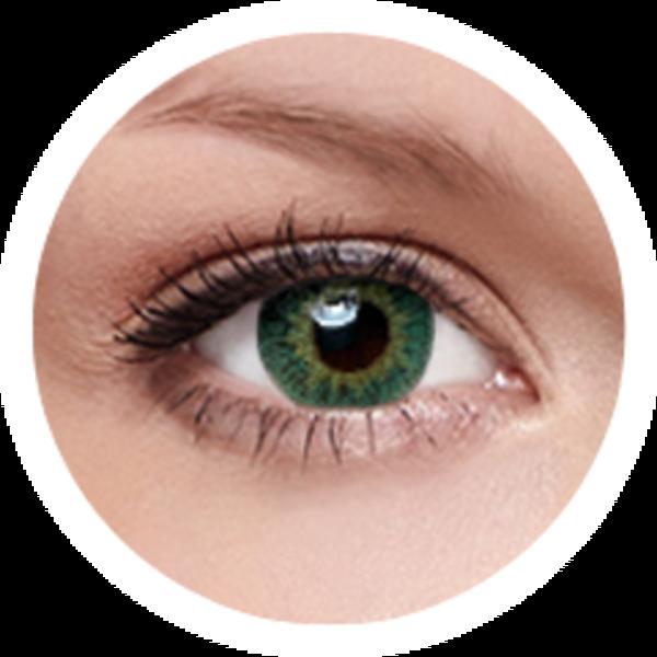 FreshKon Colors Fusion - Groovy Green (2 čočky měsíční) - nedioptrické