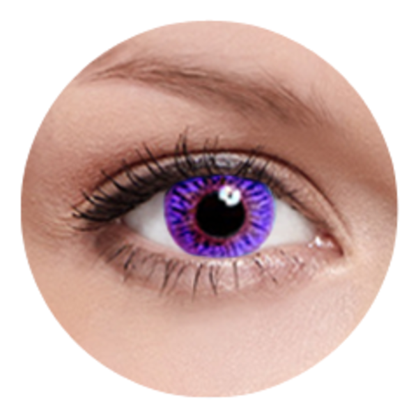 FreshKon Colors Fusion - Romantic Violet (2 čočky měsíční) - nedioptrické