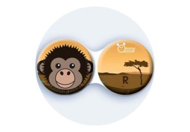 Anti-bakteriální pouzdro klasické - Afrika - Opice