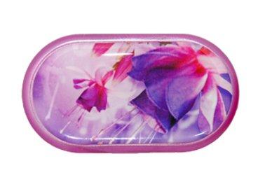 Pouzdro se zrcátkem motiv květy - Fuchsia