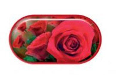 Pouzdro se zrcátkem motiv květy - Růže