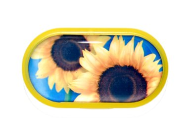 Pouzdro se zrcátkem motiv květy - Slunečnice