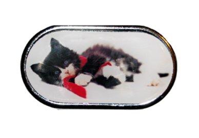 Pouzdro se zrcátkem Vánoční motiv - Kotě ležící v šále