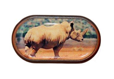 Pouzdro se zrcátkem Divoká zvířata - Nosorožec