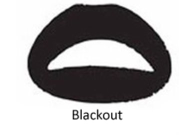 Samolepka na rty - Blackout
