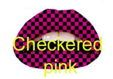 Samolepka na rty - Checkered Pink